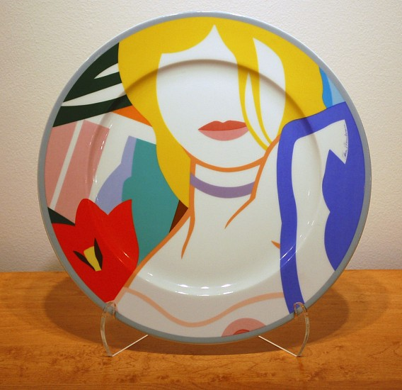 Tom Wesselman, Blonde Vivienne Plate 1985-1986, Ceramic