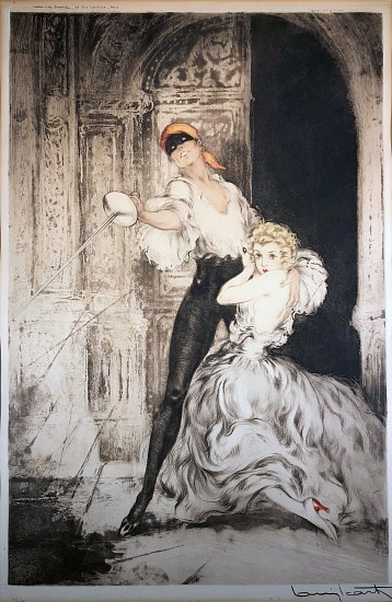 Louis Icart, Don Juan 1928, Aquatint Engraving