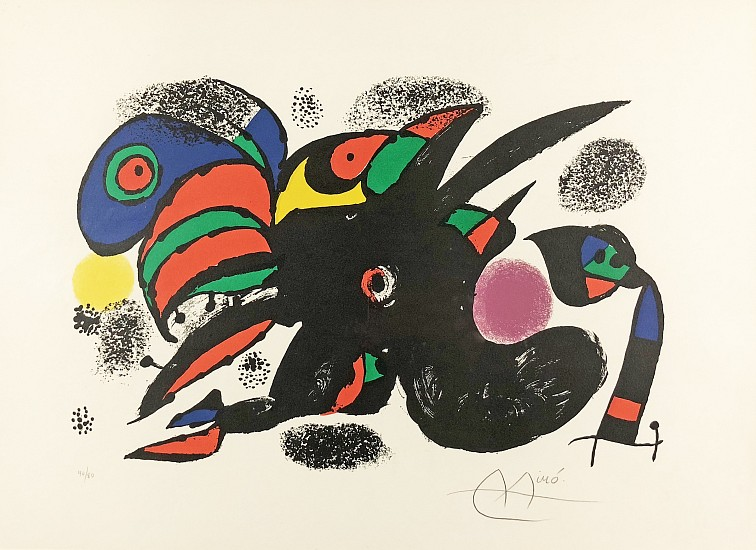Joan Miro, Deuxieme Siecle Color Lithograph
