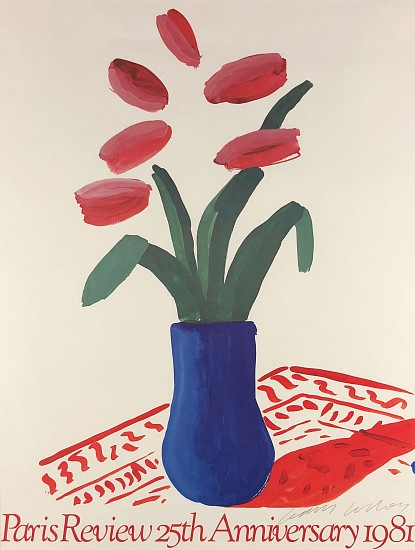 David Hockney, Paris Review Poster 1981, Lithograph Poster