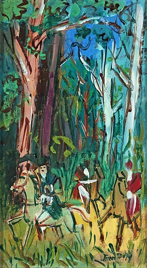 Jean Dufy, Les Cavaliers dans le Parc Oil on Canvas