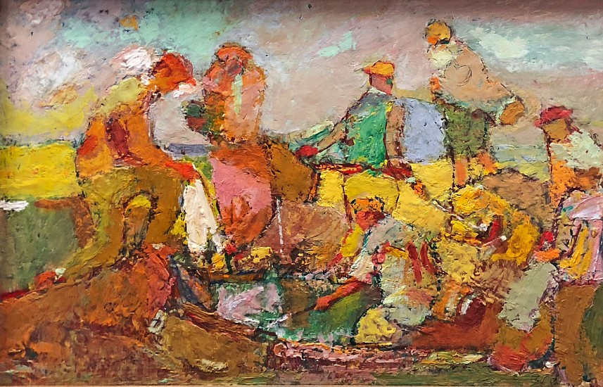 Fred Conway, Golfers on the Course Oil on Board