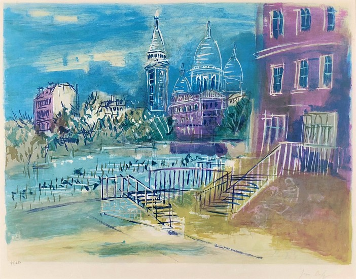 Jean Dufy, View of Paris Color Lithograph